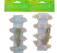 HAPPY BABY WOODEN CLOTHES PIN 8 PACK