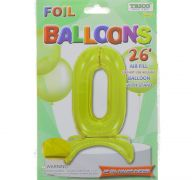 # 0 GOLD BALLOON WITH STAND 26 INCH