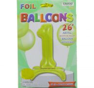# 1 GOLD BALLOON WITH STAND 26 INCH
