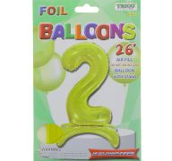 # 2 GOLD BALLOON WITH STAND 26 INCH