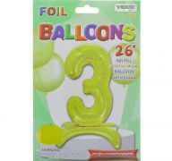 # 3 GOLD BALLOON WITH STAND 26 INCH