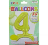 # 4 GOLD BALLOON WITH STAND 26 INCH