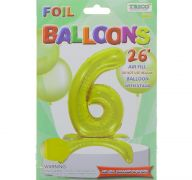 # 6 GOLD BALLOON WITH STAND 26 INCH