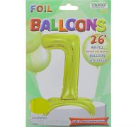 # 7 GOLD BALLOON WITH STAND 26 INCH