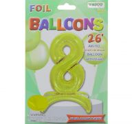 # 8 GOLD BALLOON WITH STAND 26 INCH