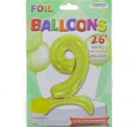 # 9 GOLD BALLOON WITH STAND 26 INCH