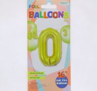 #0 GOLD 16 INCH AIR FILLED BALLOON