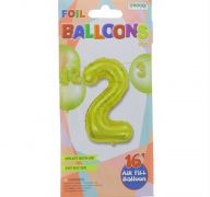 #2 GOLD 16 INCH AIR FILLED BALLOON