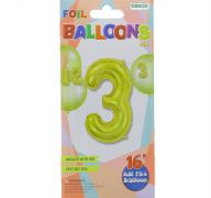 #3 GOLD 16 INCH AIR FILLED BALLOON