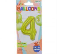 #4 GOLD 16 INCH AIR FILLED BALLOON