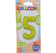 #5 GOLD 16 INCH AIR FILLED BALLOON