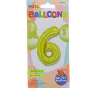 #6 GOLD 16 INCH AIR FILLED BALLOON