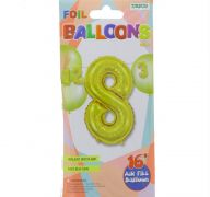 #8 GOLD 16 INCH AIR FILLED BALLOON