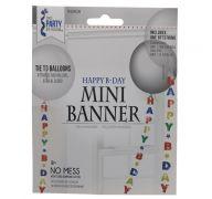 MINI BLUE GREEN YELLOW HAPPY B-DAY BANNER 6 FT