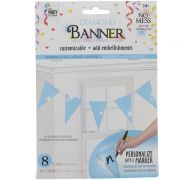 LIGHT BLUE DIAMOND TRIANGLE BANNER 8 FLAGS