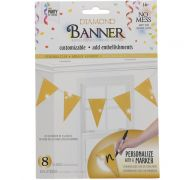 GOLD DIAMOND TRIANGLE BANNER 8 FLAGS