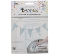 SILVER DIAMOND TRIANGLE BANNER 8 FLAGS