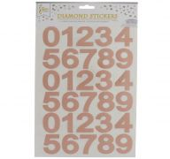 ROSE GOLD NUMERICAL STICKER 1 SHEET