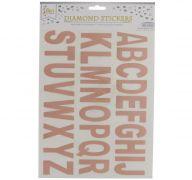 ROSE GOLD LETTER STICKER 1 SHEET