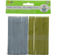 METALLIC CRAFT STICKS SILVER AND GOLD 50 PACK 4.5 X 3.8 INCH