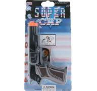 BLACK SUPER CAP TOY GUN 7IN