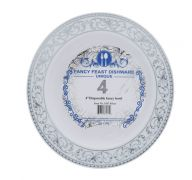DISPOSABLE FANCY BOWL 4 INCH 4 COUNT