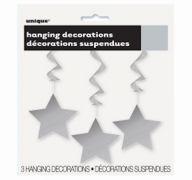 HANGING DECOR SILVER STAR