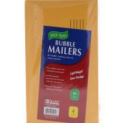 BUBBLE MAILERS 6X9.25 IN 4 PK SUB