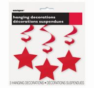 HANGING DECOR RUBY RED STAR