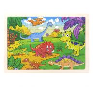 Wooden Dinosaur Puzzle Set for Kids 80 pieces Puzzle For Kids Learning Toys Educational Toys - Size 12 x 9 in