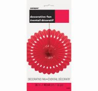 DECORATIVE FAN RUBY RED