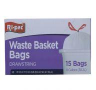 WASTE BASKET BAGS 15 PC  8GL SUB