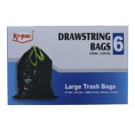 LARGE TRASH BAGS 6 PC  33GL  SUB