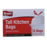 TALL KITCHEN BAGS 12 PC   13GL SUB