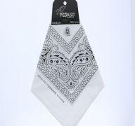 White Paisley Print Bandana