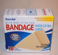 BANDAGES SHEER XL 10CT