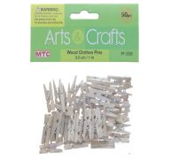 WOOD CLOTHES PINS 50 PC