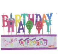 CANDLES HAPPY B-DAY COLOR
