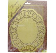 DOILIES GOLD 8.5IN