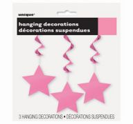 HANGING DECOR HOT PINK STAR