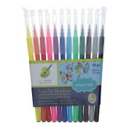 FINE TIP MARKERS 12 PC