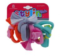 STYLIN GIRL HAIR TIES WITH BOW 8 COUNT