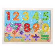 Wooden Numbers Puzzle Set for Kids 80 pieces Puzzle For Kids Learning Toys Educational Toys - Size 12 x 9 in