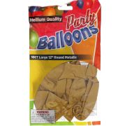 Gold 12 In Large Latex Party Balloons 5 Count