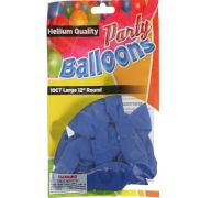 Royal Blue 12 In Large Latex Party Balloons 5 Count