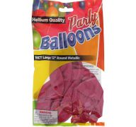 Hot Pink 12 In Large Latex Party Balloons 5 Count