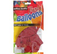 Red 12 In Large Latex Party Balloons 5 Count