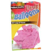 Pink 12 In Large Latex Party Balloons 10 Count
