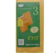 BUBBLE ENVELOPE 6X10IN 3PK