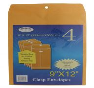 CLASP ENVELOPES 9X12 IN